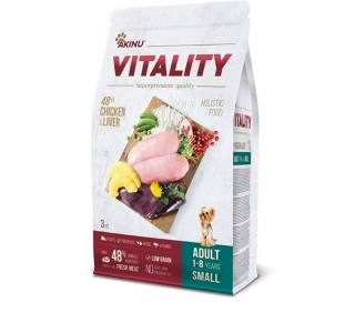 VITALITY dog adult small chicken & liver